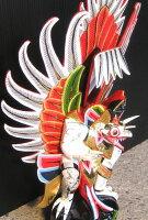 木彫りガルーダSサイズ☆ホワイト