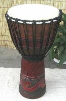インドネシア・木製ジャンベ☆木彫りLサイズ(LJ)☆