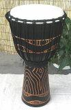 印度尼西亚?木制非洲手鼓木刻L尺寸(LK)[インドネシア?木製ジャンベ☆木彫りLサイズ(LK)☆]