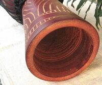 インドネシア・木製ジャンベ☆木彫りMサイズ(MN)☆