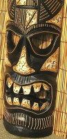 バリ島の木彫りマスク☆50cmF☆