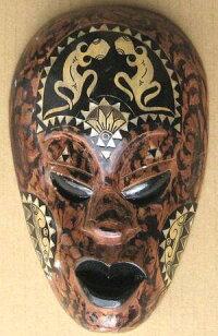 木彫りマスク〜ティモールペイント〜☆25cm/その10☆