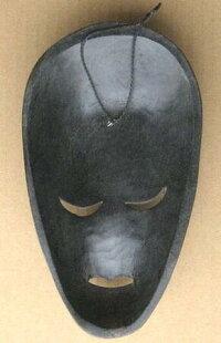 木彫りマスク〜ティモールペイント〜☆25cm/その3☆