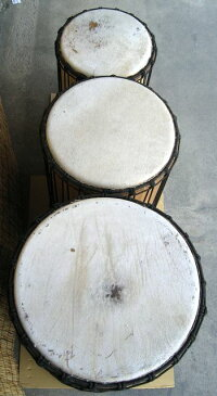 インドネシア製特大ドゥンドゥン(ジュンジュン)《マンゴー》〜3サイズセット〜