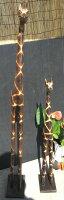 バリ島の木彫り人形《2体のキリン》