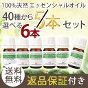 \自信があるから返品保証付!/40種から選べる 精油 今だけ5→6本set☆送料無料・100%pur