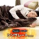 ◎クリアランス!3,480円◎【送料無料】 シンサレート 全面使用 2枚合わせ 衿付き 毛布