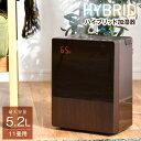 【送料無料】 湿度コントロール ハイブリッド式 超音波 加熱式 加湿器 5.2L...