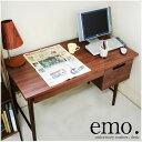 【送料無料】木目が美しいアメリカンウォールナット材を使用した重厚感あふれる大人のデザインの emo 木製 デスク 作業机 作業台 パソコンデスク PCデスク