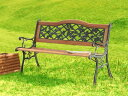 RoomClip商品情報 - 公園や広場でよく見るベンチを自宅でも【ベランダやお庭で大活躍】 ベンチ2〜3人座れる 天然木 デザインベンチ 長いす 中世ミッドセンチュリーヨーロッパ風レトロスチールフレーム アウトドアチェア ★パークベンチ G232 【02P03Dec16】
