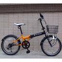 【送料無料】ランボルギーニ TL-20 トニーノ・ランボルギーニ 20インチ 折畳自転車 ブラック/オレンジ