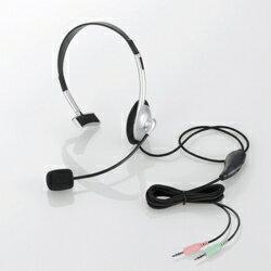 エレコム HS-HP21SV 片耳小型オーバーヘッドタイプ ヘッドセット