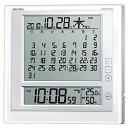 SEIKO SQ422W 電波目覚まし時計 温湿度計付き マンスリーカレンダー 6曜カレンダー