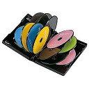 サンワサプライ DVD-TW12-01BK(ブラック) DVDトールケース12枚収納 1枚