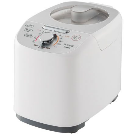 【長期保証付】ツインバード工業 MR-E751W(ホワイト) 精米御膳 コンパクト精米機 5合 MRE751W かくはん式 玄米/白米/胚芽米
