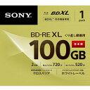 ソニー BNE3VCPJ2 録画用 BD-RE XL 100GB 繰り返し録画 プリンタブル 2倍速 1枚