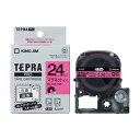 キングジム テプラPRO マグネットテープ ピンク 黒文字 24mm SJ24P