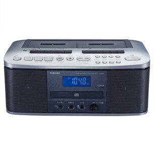 シルバー ラジオカセットレコーダー