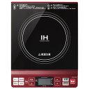 コイズミ KIH-1402-R(レッド) IHクッキングヒーター