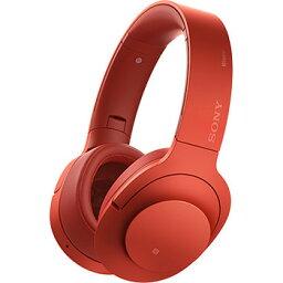 ソニー MDR-100ABN-R(シナバーレッド) h.ear on Wireless NC Bluetoothヘッドホン