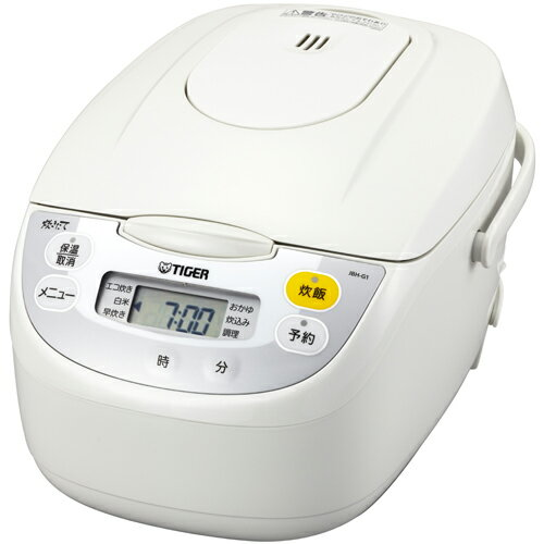 タイガー魔法瓶 TIGER JBH-G101-W(ホワイト) 炊きたて マイコン炊飯器 5.5合 JBHG101W 人気 炊飯ジャー ジャー炊飯器 二人暮らし 簡単操作 結婚祝い