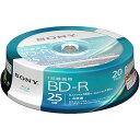 ソニー 20BNR1VJPP4 録画・録音用 BD-R 25GB 一回(追記)録画 プリンタブル 4倍速 20枚