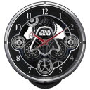 リズム時計 4MN533MC02(黒メタリック色) スター・ウォーズ 報時付電波掛け時計