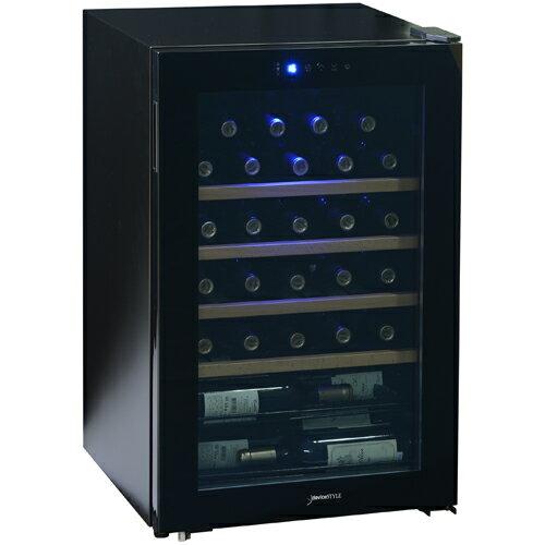 【長期保証付】デバイスタイル(deviceSTYLE) CD-30W コンプレッサー方式ワインセラー 30本収納