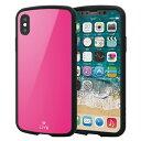 エレコム PM-A18BTSLPN(ピンク) iPhoneXs用 TOUGH SLIM LITE