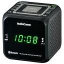 オーム電機 RAD-MBT100Z-K(ブラック) AudioComm クロックラジオ Bluetooth対応