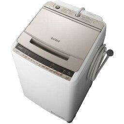 【設置+リサイクル+長期保証】日立 BW-V100E-N(シャンパン) <strong>ビートウォッシュ</strong> 全自動洗濯機 上開き 洗濯<strong>10kg</strong>[代引不可]