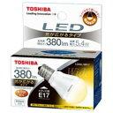 TOSHIBA LDA5L-WE17 LED電球(電球色) ミニクリプトン形5.4W(光が広がるタイプ)