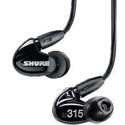 SHURE SE315-KJ(ブラック) 高遮音性イヤホン