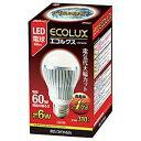 アイリスオーヤマ LED-6L261 LEDランプ(電球色) 60Wタイプ エコルクス
