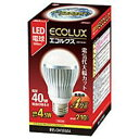 アイリスオーヤマ LED-4L261 LEDランプ(電球色) 40Wタイプ エコルクス