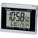 CASIO DQD-710J-8JF(シルバー) 電波目覚まし時計 温湿度計付き