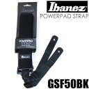 Ibanez アイバニーズ ストラップ GSF50 BK ブラック パワーパッド