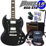 エレキギター初心者 Blitz BSG-STD/BK入門セット16点【エレキギター初心者】【】