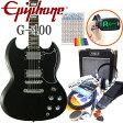エピフォン SG Epiphone G-400 EB エボニー(黒) エレキギター初心者 入門15点セット【エレキギター初心者】【送料無料】