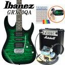 Ibanez アイバニーズ GRX70QA TEB エレキギター マーシャルアンプ付 初心者セット15点