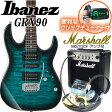 Ibanez アイバニーズ GRX90 TMS エレキギター マーシャルアンプ付 初心者セット15点【エレキギター初心者】【送料無料】
