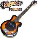 ピグノーズ・アンプのコンセプトを受け継いだユニークかつ実用的なコンパクトギター! 手軽なサイズ&プライスながら、本格的なアンプサウンドで多くのプロミュージシャンから愛されています。 ■ピックアップ&マイクロアンプ ギター用のピックアップには、マイクロサイズのツインバー・ハムバッキング、ベースにはカバードハムバッキングを採用。 オリジナル・マイクロアンプ、10cmスピーカーとの組み合わせにより、サイズからは考えられない強力なドライブサウンドを生み出します。 ■オープンバック構造 ギターアンプと同じオープンバック構造を採用。パンチングホール入りのバックプレートにより、ナチュラルで気持ちのいいサウンドを生み出します。 ■アウトプット&ヘッドフォン・ジャック アウトプットジャックを装備し、外部アンプに接続も可能。 夜に練習したくなった時や自分の世界に浸りたい時は、ヘッドフォン・ジャックに手持ちのヘッドフォンを接続すれば、スピーカーからの音が消えて周りを気にすることなく演奏できます。 ■本体仕様 Body:Basswood Neck:Maple,Bolt-on, Pitched Head Fingerboard:Tech Wood Frets:22F Scale:610mm Pickups:Original Mini Humbucking Tailpiece:Fixed Bridge Controls:Volume w/push-pull power switch (built-in Micro Amplifier) Speaker:10cm Full range Jacks:Output, Headphone (Mini Jack) Hardware:Chrome Battery:9V (006P9V) ※専用ロゴ入りソフトケース付属 【沖縄県へのお届けに関しまして】 楽天送料込みライン導入に伴い、沖縄県へのお届けに対応できない商品もございます。詳しくは こちらから ご確認いただきますようお願い申し上げます。