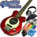 Pignose ピグノーズ PGG-200 CA アンプ内蔵ミニギター15点セット キャンディアップルレッド