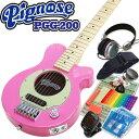ピグノーズ・アンプのコンセプトを受け継いだユニークかつ実用的なコンパクトギター! 手軽なサイズ&プライスながら、本格的なアンプサウンドで多くのプロミュージシャンから愛されています。 ビギナーの練習用にも、熟練者のセカンドギターとしてもオススメのPGG-200に すぐに演奏するための必需品をセットしたお手軽セットをご用意しました! 【スタートに安心の15点セット!】 ・ギター本体 ・専用ケース ・ストラップ ・オリジナルピック6枚セット ・ピックケース ・交換弦セット ・ワインダー ・クリーニングクロス ・クリップチューナー ・ヘッドフォン ・コードシート ・ケーブル ・ギタースタンド ・交換用9V電池 ・ポジションステッカー ■本体仕様 Body:Alder Neck:Maple,Bolt-on, Pitched Head Fingerboard:Rosewood Scale:610mm Pickups:Original Mini Humbucking x1 Tailpiece:Fixed Bridge Controls:Volume w/push-pull power switch (built-in Micro Amplifier) Hardware:Chrome オープンバック構造 ギターアンプと同じオープンバック構造を採用。パンチングホール入りのバックプレートにより、ナチュラルで気持ちのいいサウンドを生み出す。また身体でこの部分をふさいだり開けたりすることで、ワウ効果も得られる。 バッテリーボックス ワンタッチで開け閉めでき、イージーに電池交換ができる独立式のバッテリーボックス。 アウトプット・ジャック アウトプット・ジャックから外部アンプに接続すれば、コンパクトな外観に似合わない本格的なサウンドが実感でき、ライブステージでも活躍間違いなし。 ヘッドフォン・ジャック 深夜に練習したくなった時や自分の世界にひたりたい時は、ヘッドフォン・ジャックに手持ちのヘッドフォンを接続すれば、スピーカーからの音が消えて周りを気にすることなく演奏に集中することができる。 マイクロ・ハムバッキング・ピックアップ ギターのサウンドを決定付けるピックアップには、マイクロサイズのツインバー・ハムバッキングを採用。最小のスペースの中で、最大限に太いサウンドを得るための工夫がなされている。 マイクロアンプ&10cmスピーカー 長年に渡ってコンパクトアンプでつちかわれたノウハウをもとに設計された、オリジナル・マイクロアンプと10cmヘビーデューティ・スピーカーによる、超強力なドライブサウンドがいきなり飛び出す。さらにフルボリュームにすると、なんとフィードバック奏法まで可能。限りないサスティーンの海に酔いしれることができる!! 伝統のピグノーズ・ノブ コントロールは、パワースイッチ兼のボリュームが1つだけという、オリジナル・ピグノーズ伝統のスタイル。もちろんノブは豚の鼻をモチーフにしたクロームメッキのオリジナル・ピグノーズ・ノブ。 【沖縄県へのお届けに関しまして】 楽天送料込みライン導入に伴い、沖縄県へのお届けに対応できない商品もございます。詳しくは こちらから ご確認いただきますようお願い申し上げます。↓↓ピグノーズ カラーバリエーションはコチラ↓↓ ブラウンサンバースト チェリーサンバースト キャンディアップルレッド メタリックブルー ブラック ブルーシェイド フレイムメイプルトップ シースルーブラック フレイムメイプルトップ シースルーパープル フレイムメイプルトップ シースルーレッド フレイムメイプルトップ シースルーブルー フレイムメイプルトップ シースルーグリーン フレイムメイプルトップ シースルーピンク