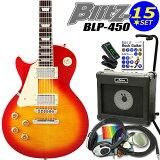 エレキギター 左利き 初心者 入門13点セット レスポールタイプ チェリーサンバースト Blitz BLP-450-LH/CS【レフトハンド】 【エレキギター初心者】【】