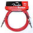 Fender フェンダー ケーブル California Cables 15' Candy Apple Red ギター・ベース用 シールド 【ネコポス(np)送料210円(ポスト投函)】 [旧メール便]