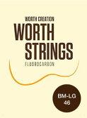 ワースストリングス Worth Strings フロロカーボン ウクレレ弦 Low-Gセット ブラウン ミディアム BM-LG 【ネコポス(np)送料210円(ポスト投函)】 [旧メール便]