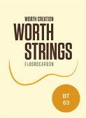 ワースストリングス Worth Strings フロロカーボン ウクレレ弦セット ブラウン テナー用 BT 【ネコポス(np)送料210円(ポスト投函)】 [旧メール便]