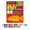 カツイチ ワーム25 キロフックワイド (Worm25) Kg Hook Wide #4/0 5本入 NS Black フック