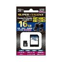 \楽天カードでポイント9倍/『メール便送料無料』SUPERTALENT microSDHCカード class10 16GB SD変換アダプタ付 11-0176 ST16MSU1PD マイクロSD microSDカード